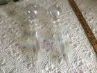 2 Iridescent Hand Blown Glass Finial Shaped Ornament 17Hanging Crystal