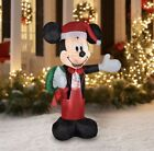 Disney 5 Ft Christmas Mickey Mouse Airblown Inflatable Gemmy Yard Decoration
