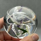 Signed Vintage Glass Paperweight Multi Color Swirl Beautiful Gift or Collectible