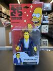 NECA Simpsons 25 Greatest Guest Stars STEPHEN KING Series 3 Action Figure MOC