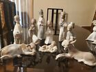 9 Piece AUTHENTIC LLADRO Nativity Set Scene Stamp From 1971 1974 Free Shipping