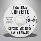 1953 1975 Chevrolet Corvette Chassis and Body Parts Catalog CD 675324