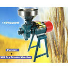 110V Electric Grinder Mill Cereals Grain Corn Wheat Feed Flour WetDry 2200W US