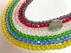 Round Faceted Crystal Beads 8mm Beads for Jewelry Making Bulk 5 lbs 7 colors