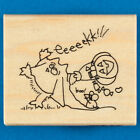 Fluffles the Cat Ghostie Rubber Stamp by Stampendous Halloween Costume Rare