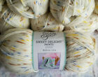 Baby Bee Sweet Delight Yarn lot of 10 skeins 4oz each Very Soft Puppy colorway