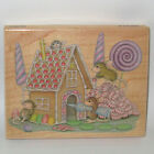 Stampabilities House Mouse Rubber Stamp HOME SWEET HOME Color Wood Mount Ginger