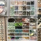 Huge gemstone bead lot and jewelry making accessories no plastic spent 1500+