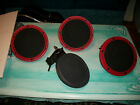 ddrum ELECTRONIC DRUM PADS LOT OF 4 8 WITH HARDWARE