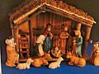 VINTAGE SEARS NATIVITY SET 32 97889 11 FIGURES STABLE WITH ORIGINAL BOX