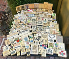 Wood Rubber Stamps Huge Lot of 400 New Used Mixed Themes EXTRAS Low Buy It Now