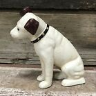Cast Iron Nipper Dog with Glass Eyes 575 Tall Coin Bank Figurine