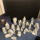 Vintage Avon Nativity Collectibles Set Complete w Flying Angel 22 Pc Most W Box