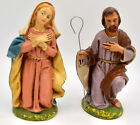 Made in Italy Nativity Joseph Mary Paper Mache 65 Vintage