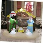 8 FT Long Christmas Blowups Decoration Outdoor Lighted Inflatable Nativity