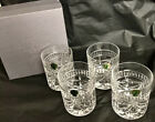 NIB 4 pc Waterford Crystal Double Old Fashioned Bar Glass Tumblers in Overture