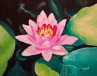 77 - AUTHENTIC PAINTING by Ezi ALgazi - Water Lilly on the pond - Frame included