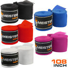 JUNIOR 108 ELASTIC HAND WRAPS PAIR MEISTER MMA Mexican Boxing Women Kids