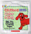 2009 Color & Sing CLIFFORD The Big Red Dog Children's Pop PLAY Songs CD