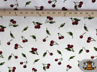 POLAR FLEECE FABRIC PRINTED CHERRY By The Yard