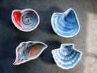 SET 4 PAULA DEEN AT HOME AHOY MATE SEASHELL BOWLS HANDPAINTED FREE PRIORITY