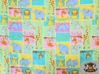 FLEECE PRINTED MULTI COLOR BABY ANIMALS FABRIC BY THE YARD