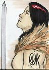 Red Sonja AUTOGRAPH SKETCH CARD Charles Oak Carvalho Breygent 2011