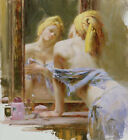 """Pino HAND Signed# """"Morning Reflections"""" Elegant Sensuous Woman Giclee Paper pcoa"""