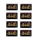 1:10 scale model Easy Rider chopper motorcycle license tag plates