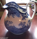 Antique Minton/Boyle Blue & White Genevese Ewer~Pitcher~ c1841~ Beautiful Gift!