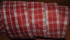 Wired Ribbon~Red Plaid~White~Silver Sparkle~Christmas~Holiday~Bow~Gift~Craft~4