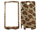 Hard Diamond Phone Cover Gold Leopard For HTC Pure