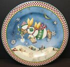 Sakura Debbie Mumm Snow Angel Village Salad Plates 2 Angels Candle Bucket Stars