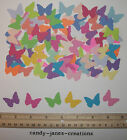 100 MARTHA STEWART CLASSIC BUTTERFLY PAPER PUNCHES CUT OUTS EMBELLISHMENTS