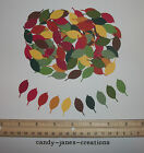 100 MARTHA STEWART FALL ROSE LEAF PAPER PUNCHES CUT OUTS EMBELLISHMENTS