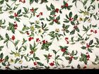White With Holly Christmas Classics Northcott Cotton Fabric 2893 12