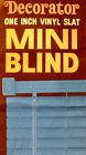 VINTAGE VENETIAN MINI BLIND RETRO BLUE VINYL LARGE 72