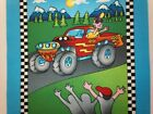 MONSTER MACHINES 2 Fabric Panel Quilt Block Square by Tricia Cribbs for Nort