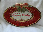 Fitz & Floyd Holiday Wishes Oval Plate