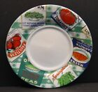 Omnibus Country Cupboard Fitz & Floyd Saucer Plates Peas Carrots Tomatoes