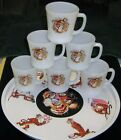 Fire King Vtg. Promotional Esso Exxon Tony The Tiger Tray Set 6 coffee Cup/Mug