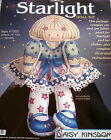 Daisy Kingdom Starlight Fabric Panel Doll Blue 18