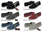 NEW WOMENS CLASSIC CANVAS SLIP ON FLATS CASUAL SHOES