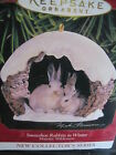 Hallmark Ornament 1997 SNOWSHOE RABBITS #1 in Majestic Wilderness Series MIB