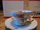 UCAGCO CHINA Made in OCCUPIED JAPAN Demitasse Cup Saucer MOSS ROSE NR