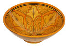 Moroccan Ceramic Plate Bowl Pottery Spanish Salad Pasta Soup Fruit Rice Dish