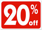 20 off retail store sale Business Discount Promotion Message signs