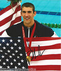 USA MICHAEL PHELPS SIGNED 8X10 PHOTO W COA BEIJING LONDON 2012 GOLD MEDAL ATHENS