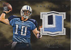 2011 Topps Inception 3 Color Titans Jersey Patch Jake Locker RC 23