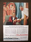 VINTAGE Cunard Cruise Ships ORIGINAL magazine ad New York Canada Europe 1950's